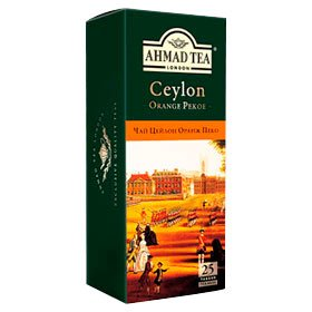 Чай чорний Ceylon Tea Orange Pekoe Gold ТМ Ahmad Tea, з/я 25х2г