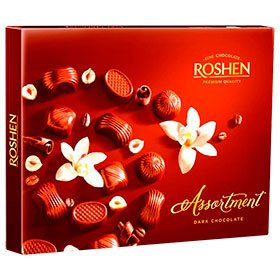 Цукерки шоколадні Assortment ТМ Roshen, 154г